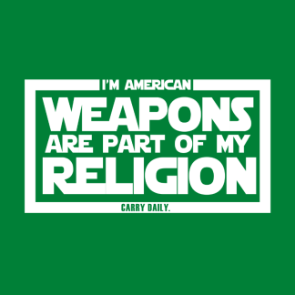 Browse all Weapons Are Part of My Religion Gear
